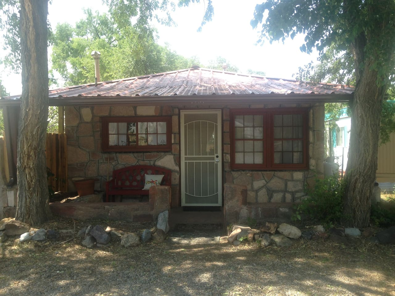 Front of the Stone Casita - what you'll see from the street.