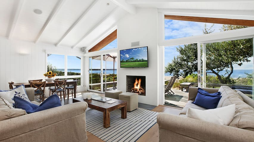 New Listing: Chic Waterfront Home w/ Views of Gardiner's Bay, Architect Design, Spacious Deck