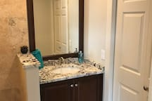 Bathroom Area - Sink & Closet Door