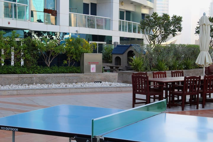 Kid's play area and table tennis at the first floor