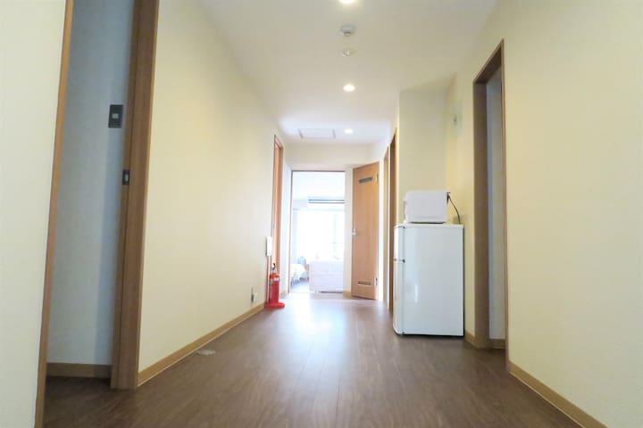 Bright room hallway