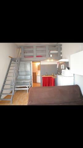 Studio mezzanine 4 couchages - Villeneuve-de-la-Raho - Appartement