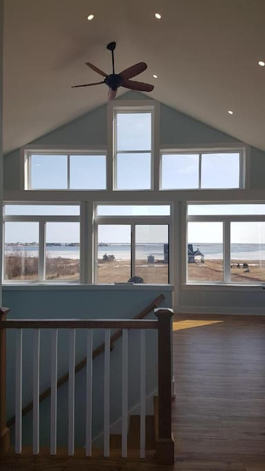 These pictures do not do the panoramic view of the Rustico harbour and bay justice! Enjoy a glass of wine while watching the beautiful sunset over the water on the deck. A glass deck railing will be installed before rentals.