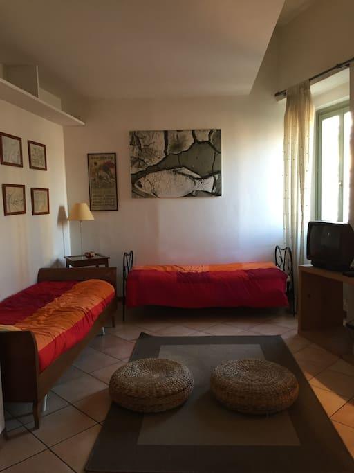 2a parte del soggiorno con due divani/letto