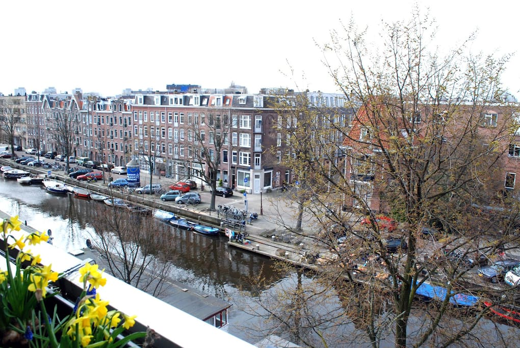 Canal view from the balcony