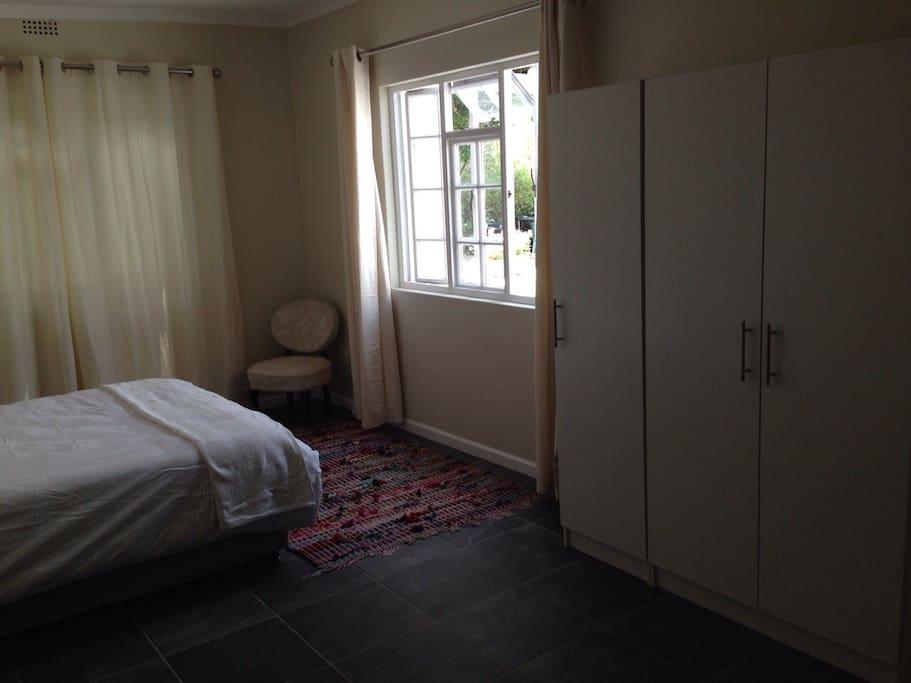 Bedroom with cupboard