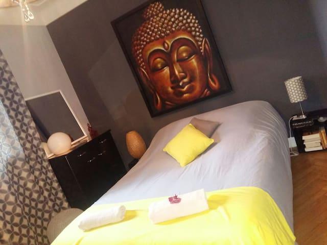 Anglet /Biarritz chambre lit 140 petit déj inclus