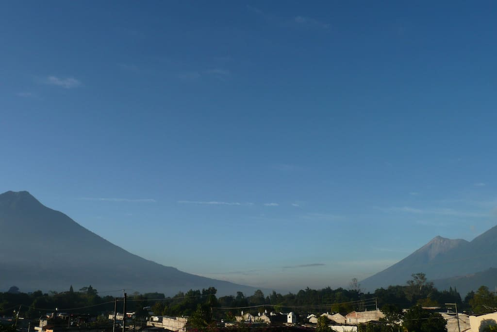 We have a nice view to the volcanos!