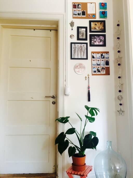 door into one of the bedrooms