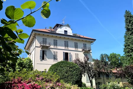 Ancient villa fireplace, large panoramic terrace - Dagnente, frazione di Arona - อพาร์ทเมนท์