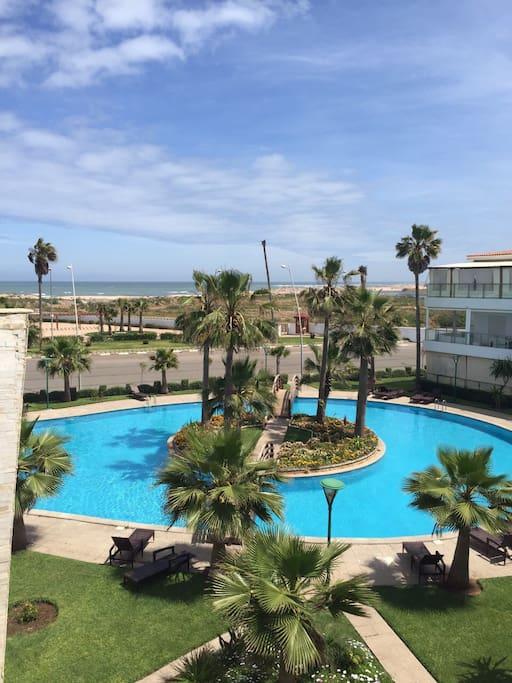terasse: vue sur Mer + piscine