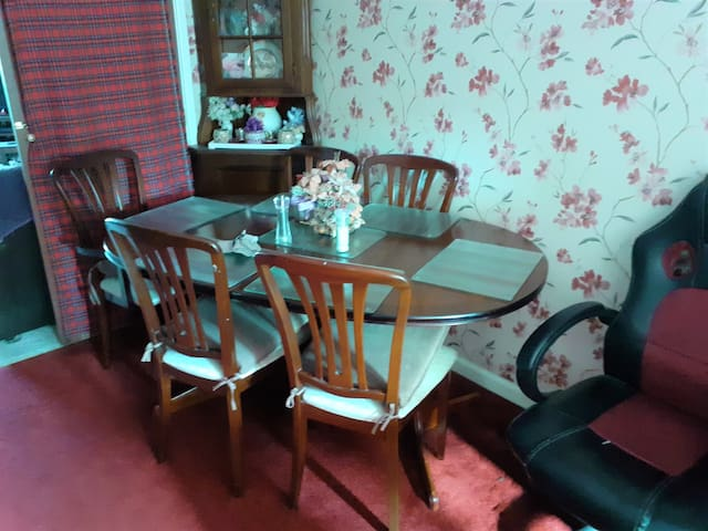 Private dining area for yourself renting this large bed sofa room.