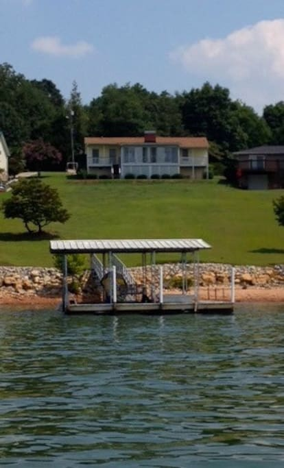 Large screen porch on water.