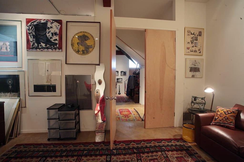 Back wall of bedroom