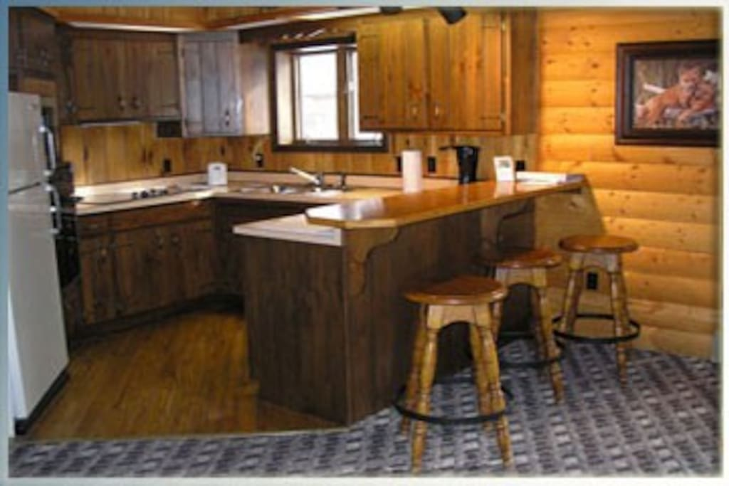 Full-size kitchens in each of the cabins.
