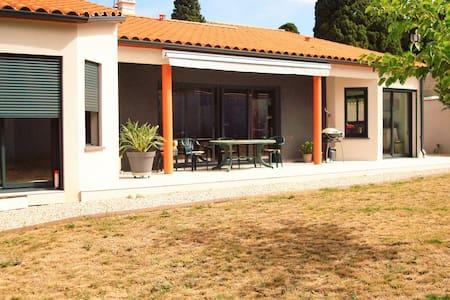 Villa moderne rez de jardin, parking privé. - Laroque-des-Albères