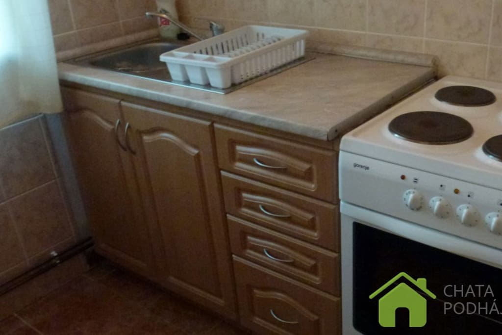 Ubytovanie Podhájska - kuchyňa