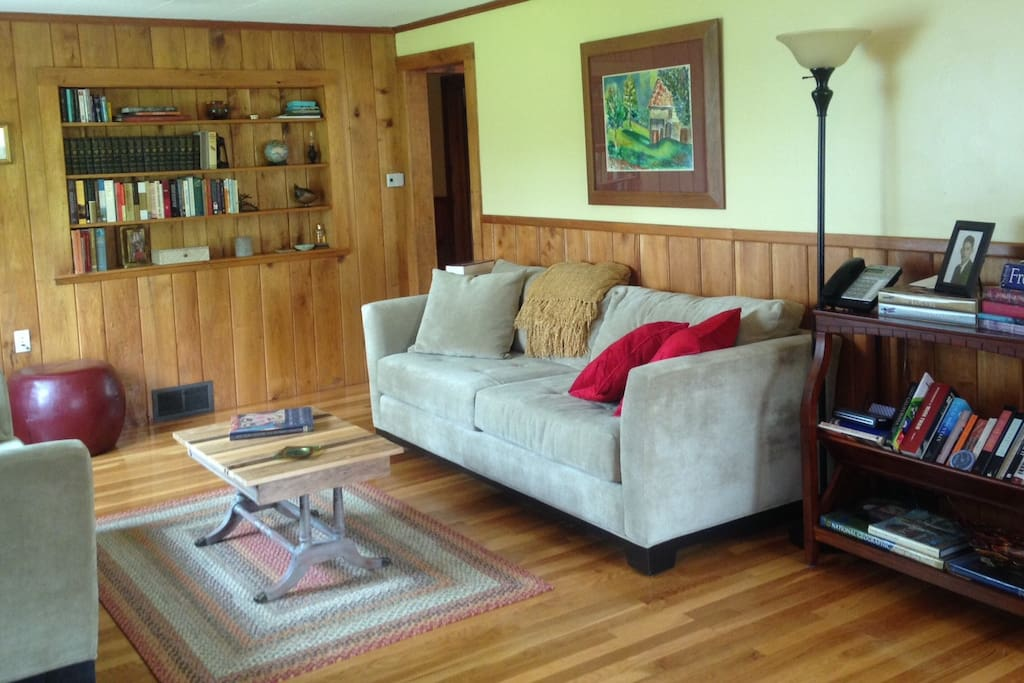Living room… ample books around the house