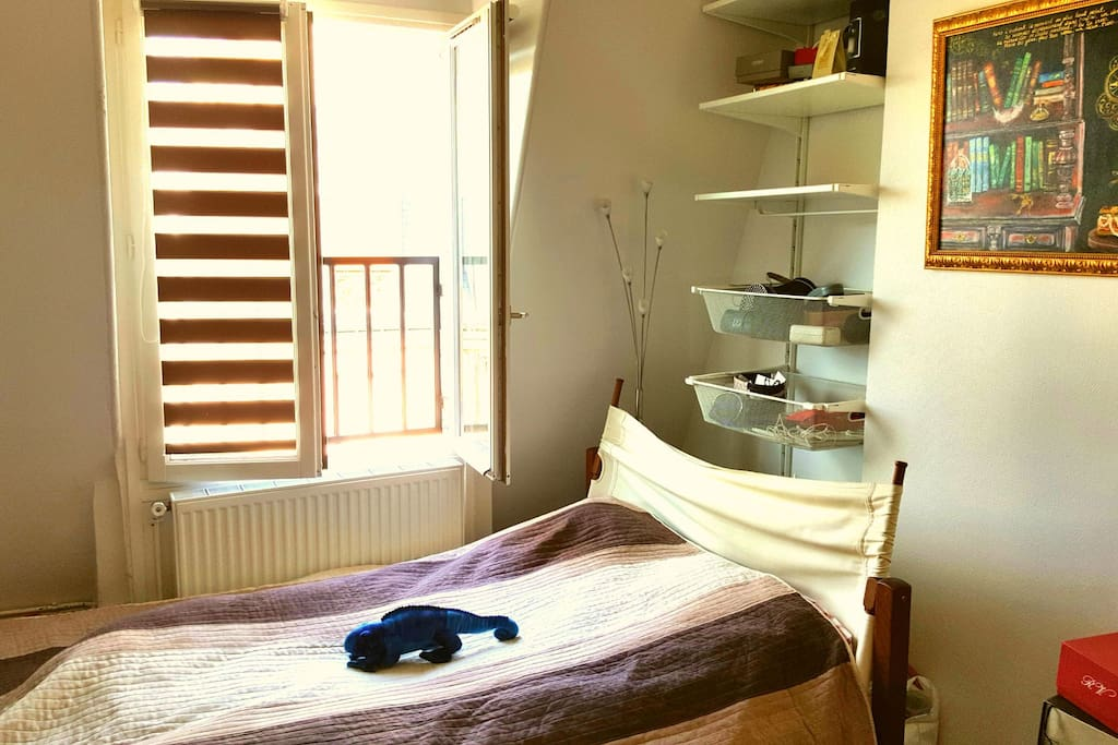 Light bedroom with a window