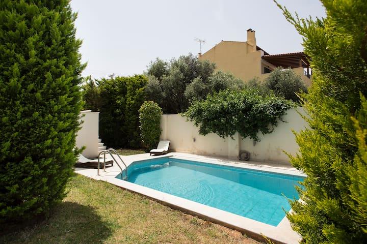 Villa with Private Swim Pool near Airport & Beach