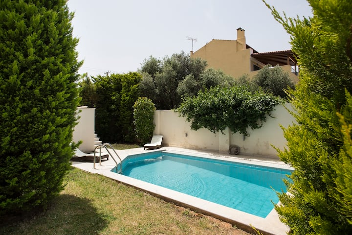 Villa with Private Swim Pool near Airport & Beach