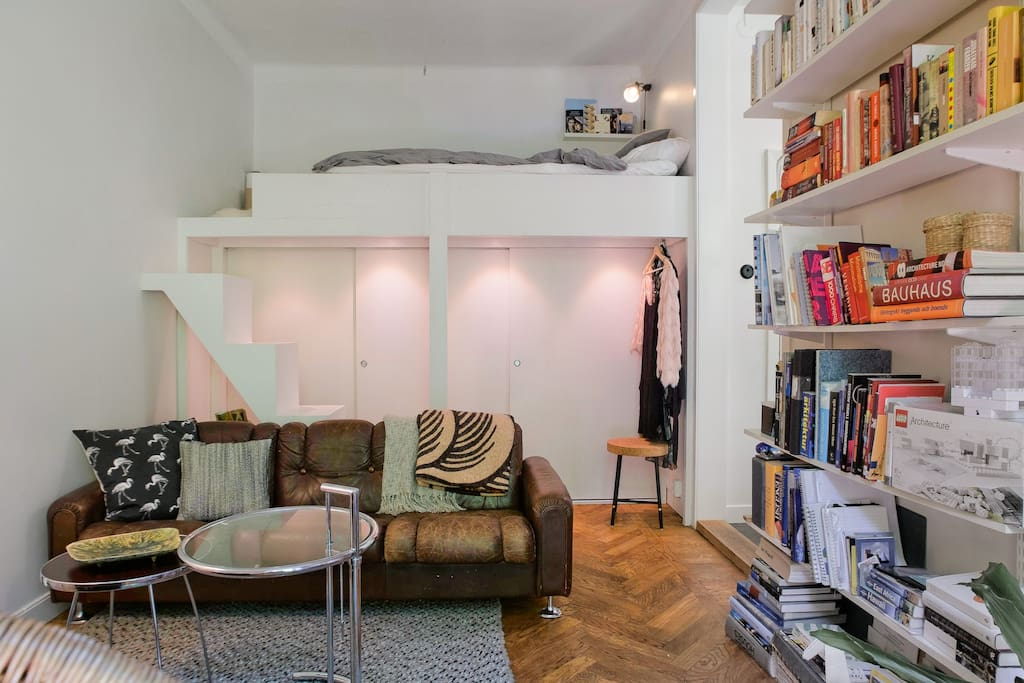 living room and sleeping loft