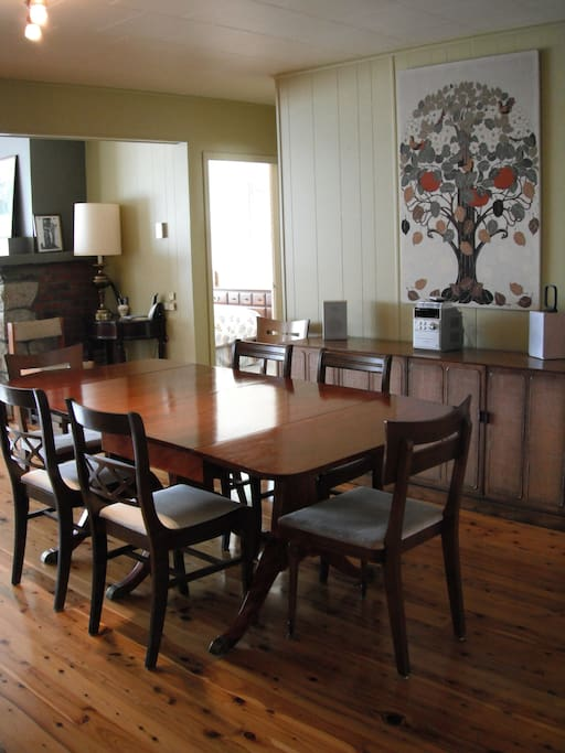 Large family style dining room is perfect for long dinners