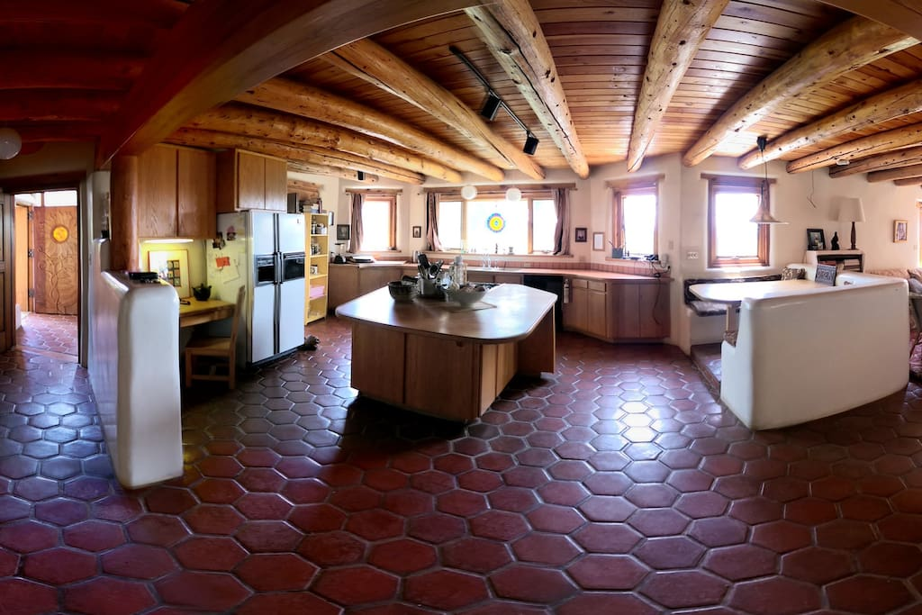 Large kitchen and with center island