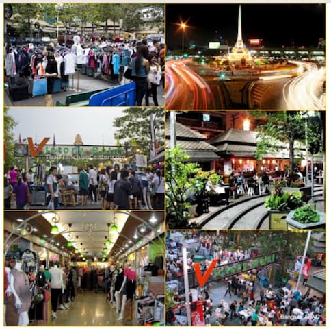 The Victory Monument market, the biggest local night market in Bangkok opens in the evening till lated night everyday at BTS Victory monument station.(Only 1 station from BTS Sanampao)