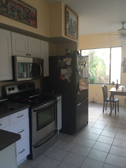 Sun Room and Spacious Kitchen with stove/oven, espresso machine, french press, coffee maker, toaster, blender, micromave.