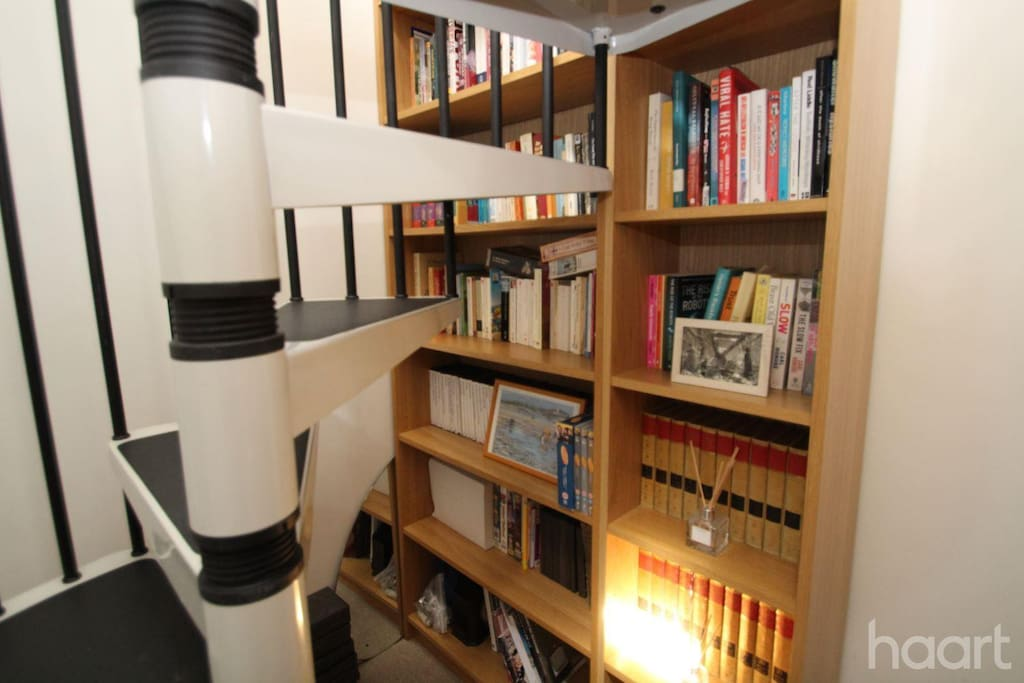 This is the spiral staircase to reach the loft room.