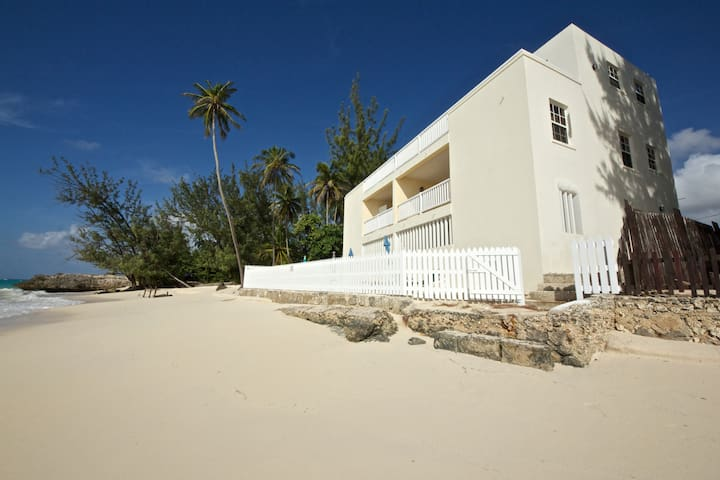 Cozy Oceanfront 2-BR apartment with AC