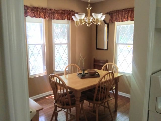 A separate dining room off the kitchen.