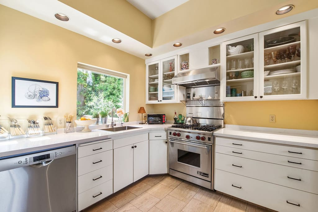 Gourmet kitchen with Wolf stove