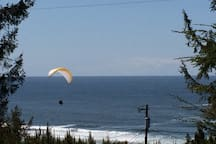 Oceanside is a popular spot for para-sailors and hang-gliders