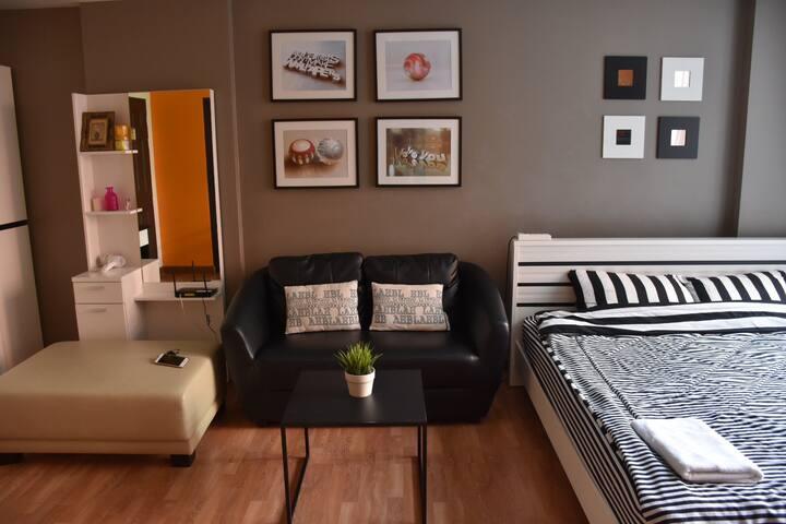 Cozy Room in Ratchada Near MRT Sutthisan - Banguecoque - Condomínio
