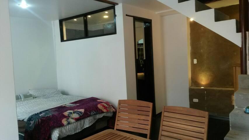 Dormitorio Grande tipo estudio con baño privado