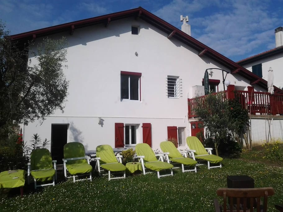 jardin et 2 terrasses