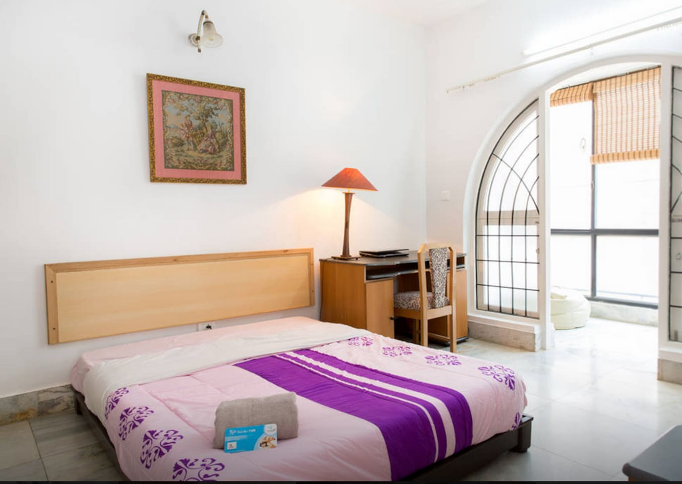Room views (1) : Spacious, ventilated and cozy rooms , with attached bath, TV  & balcony space in room..