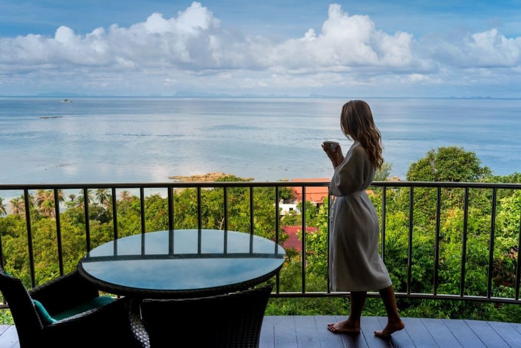 Balcony overlooking the Gulf of Thailand