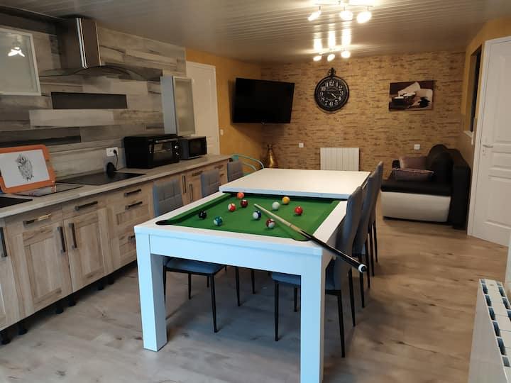 appartement détente en Ardèche rez-de-jardin