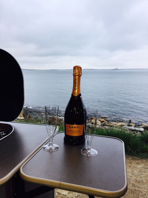 Bubbly with a view?
