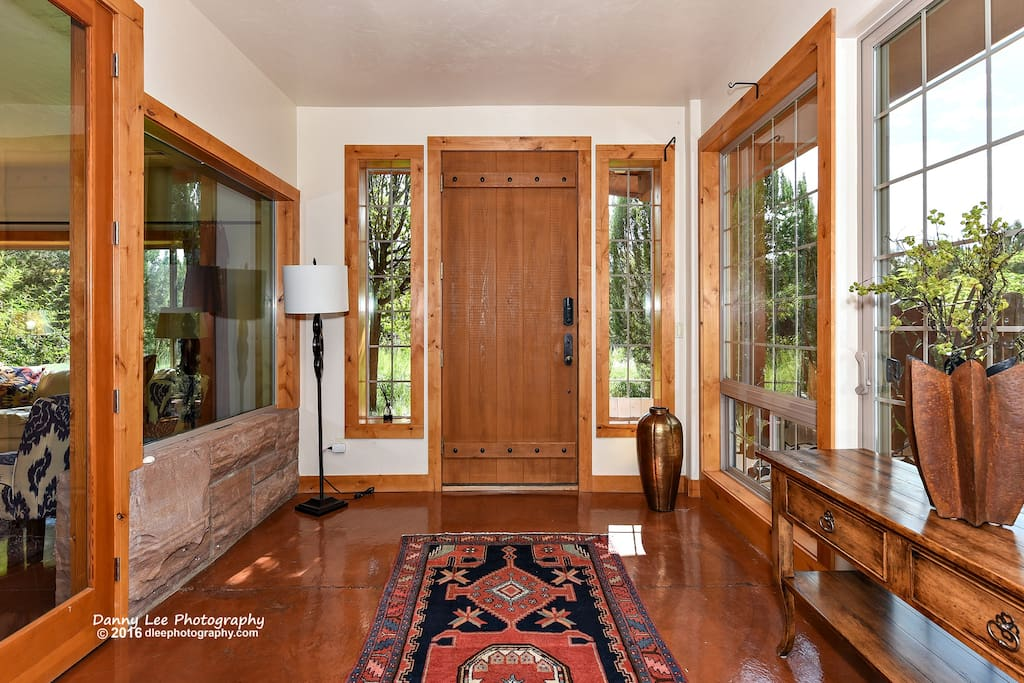 Beautiful wood throughout- knotty Alder, over-sized doors.