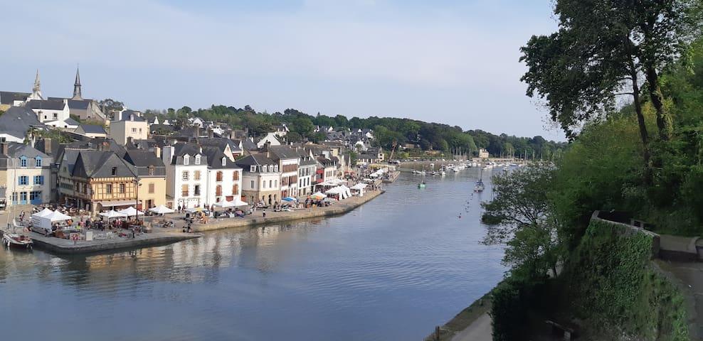 T2   vue sur la rivière - Port de St Goustan