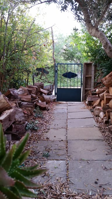 The entrance gate leading to our house  and studio