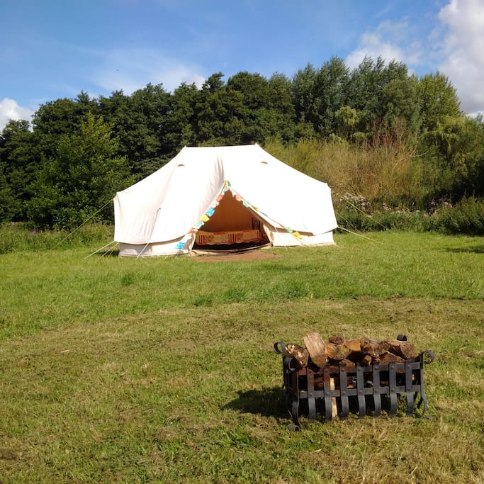 Our bell tent for hire - see other Airbnb listing