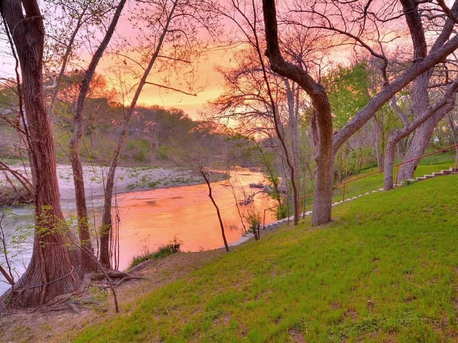 Beautiful sunsets over the San Marcos from the property.