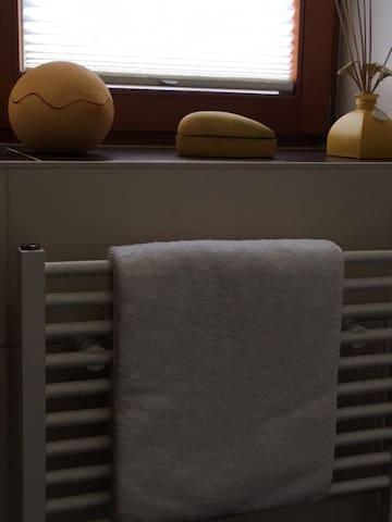 Handtuchwärmer im Bad
