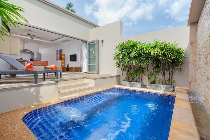 ❤️Romantic❤️ 1 BD luxury pool villa Bangtao beach