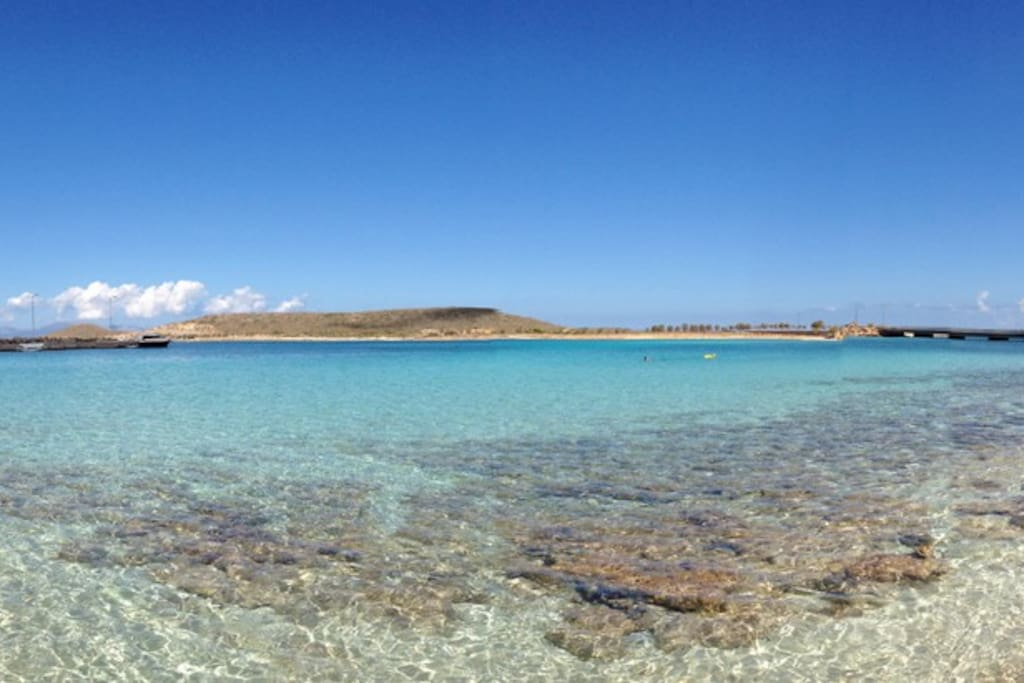 Crystal clear waters of Diakofti Beach.